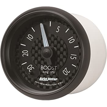 Auto Meter 4803 Carbon Fiber Mechanical Boost//Vacuum Gauge