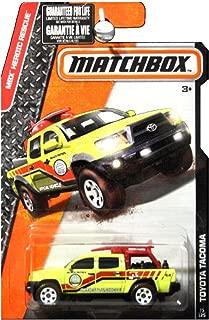 Matchbox 2016 MBX Heroic Rescue Toyota Tacoma Lifeguard Truck Beach Rescue Yellow