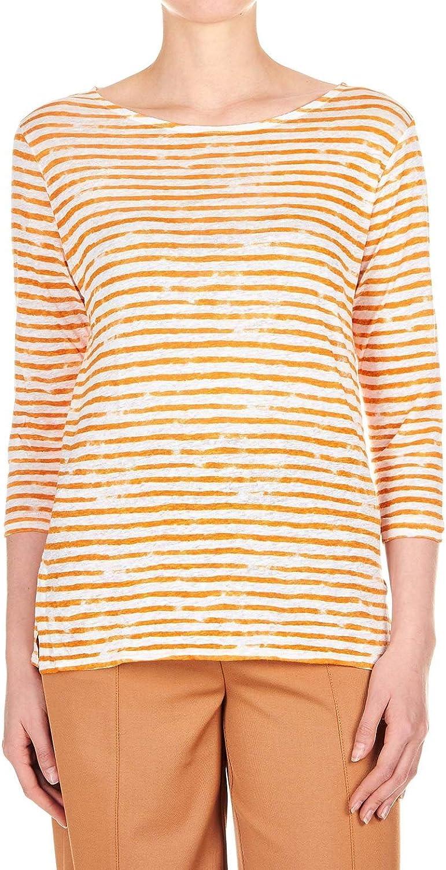 MAJESTIC FILATURES Women's J077FTS111860 orange Linen TShirt