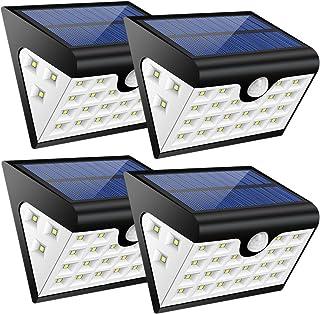 Lamparas Solares GRDE 28 LED Ultra Brillante Luz Solar con Waterproof IP65 y Lux 300, Luces Led Solares para Exterior Actividades, Jardin, Patios, Terrazas, Caminos, Escaleras, Entradas, etc