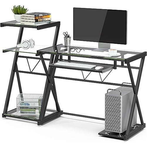 EUGAD Escritorio de Ordenador Escritorio para Computadora Mesa de Oficina Mesa para PC Mesa de Trabajo Metal MDF 90x50x73cm 0103ZZ
