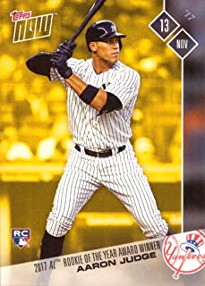 2017 Topps Now Bonus #OSB-1 Aaron Judge Baseball Rookie Card - Wins 2017 AL Rookie of the Year Award - Only 3,771 made!