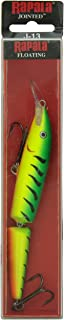 "Rapala Jointed Lure, Size 13, 5 1/4"" Length, 4'-14' Depth, 2 Number 2 Treble Hooks, Fire Tiger, Per 1"