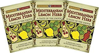 Fusion Flavors Olive Oil Dipping Spices (Mediterranean Lemon Herb 3 Pack)