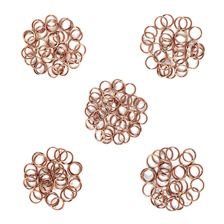 Antique Copper - Enameled Copper Jump Rings – 16 Gauge – 7.0mm to 9.0 mm ID - 200 Rings
