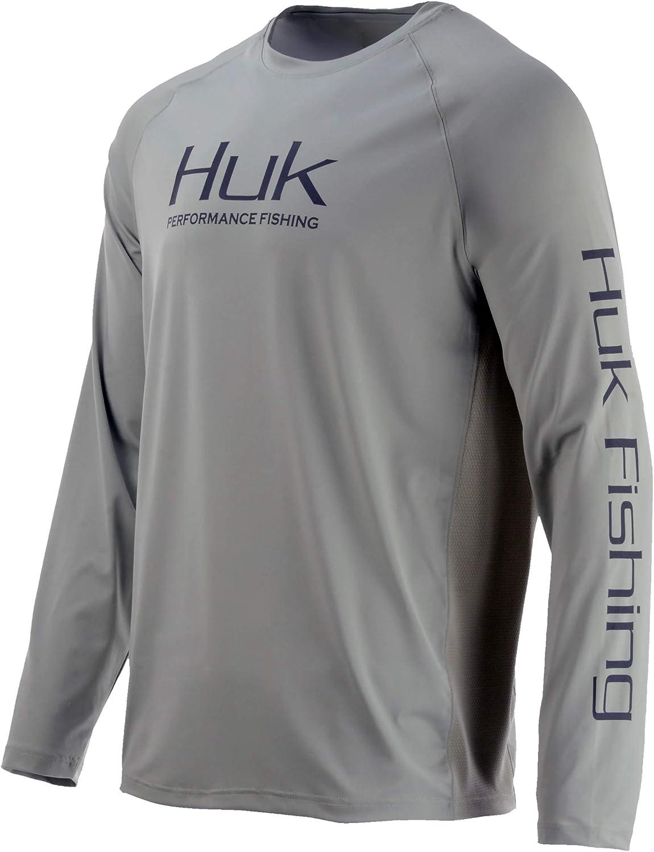 Huk Men's Pursuit Vented Long Sleeve 30 UPF Fishing Shirt, Desert Sage, 3X-Large