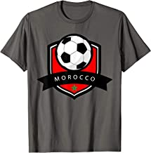 Morocco Soccer Ball T-Shirt | Moroccan Flag Football Tee