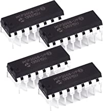 Microchip MCP3008-I/P 10-Bit ADC with SPI (Pack of 4)