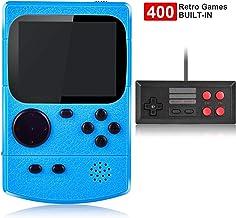 Kiztoys Consola de Juegos Portátil,Consola Retro 400 Juegos Clásicos y Pantalla a Color de 2.8 Pulgadas para 2 Jugadores Soporte TV Juegos Portátiles Consolas Juega 3 horas o más para Niños y Adultos