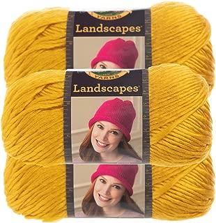Lion Brand Yarn (3 Pack) Landscapes Yarn Acrylic 100 Percent Medium #4 Soft Yarn for Knitting Crocheting (Mustard)