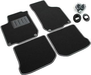 comprar comparacion ilTappeto Auto Sprint04006 - Alfombrillas de moqueta para Coche, Color Negro, Antideslizantes, con Borde Negro y Borde Gri...