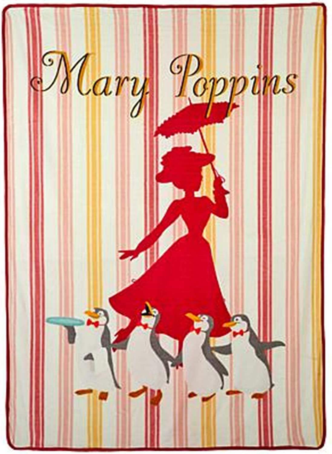 Northwest Mary Poppins Returns Mary and Penguins Silk Touch Throw Blanket 80  x 60