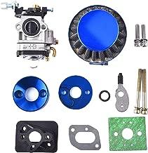 15mm Carburetor Upgrade Kit Air Filter Set Compatible with 2 Stroke 43cc 47cc 49cc Standup Gas Scooter ATV Quad Pocket Bike X-TREME XG-550 BladeZ Moby X Blue