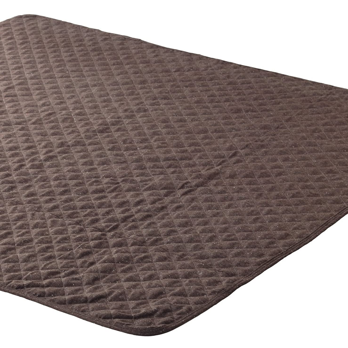 オセアニア症候群未接続マルチカバー ネップツイード 正方形 190x190cm ブラウン