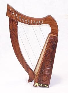 12 String Children`s Harp Celtic Design Extra Strings Tuner Carrying Case New