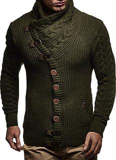Leif Nelson Men Cardigan Jacket Shawl Collar LN-7080