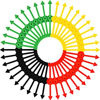 Tatuo 40 Pieces Arrow Spinners Board Game Spinner Arrow Toys for Party School Home Using, 4 Colors