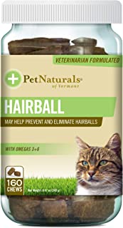 Pet Naturals - Hairball, Daily Digestive, Skin and Coat Support for Cats, 160 Bite-Sized Chews