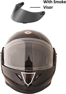 VARSHINE RHYYN@X FULL FACE HELMET || BLACK COLOR || Medium Size || ISI APPROVED || WITH HYDROGRAPHICS || Unbreakable PC Smoke Visor with Double Layer Silicon Hardcore Coating || Scratch Resistant || MODEL- JETTY