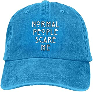 Men Women Classic Denim Normal People Scare Me Adjustable Baseball Cap Dad Hat Low Profile Perfect for Outdoor