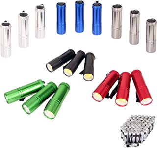 SEAMAGIC Heavy Duty Aluminum COB Flashlight Set, 18-Pack, Super Bright 100 Lumen COB LED Flashlights With Lanyards and 54×AAA Dry Batteries Included, Ideal for Reading, Walking and Camping