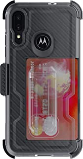 Ghostek Iron Armor Motorola Moto E6 Plus Belt Clip Case Holster Kickstand Card Slot Military Grade Heavy Duty Protection Wireless Charging Compatible 2019 Motorola Moto E6 Plus (6.1 Inch) - Black