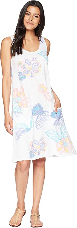 Summer Floral Drape Dress