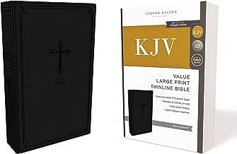 KJV, Value Thinline Bible, Large Print, Leathersoft, Black, Red Letter Edition, Comfort Print: Holy Bible, King James Version