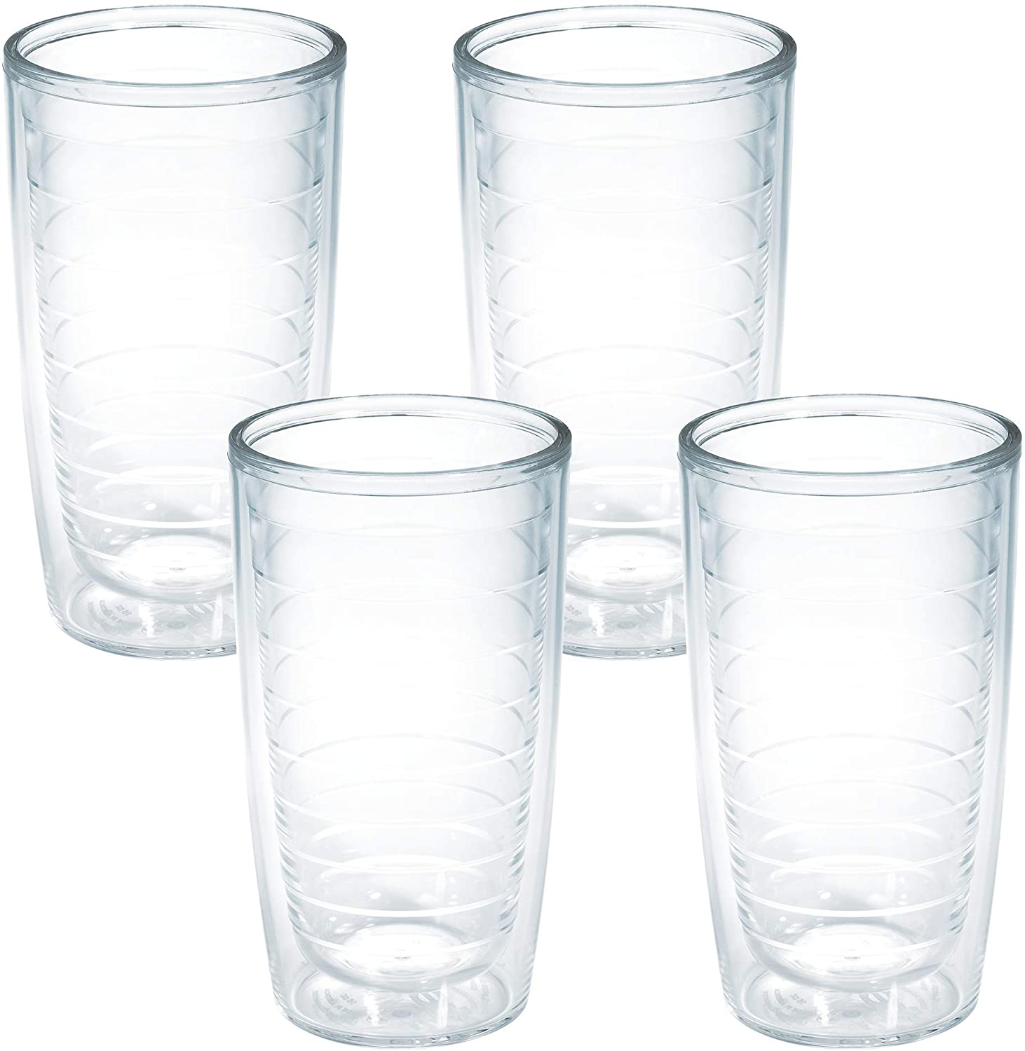 Tervis Today's only Clear Colorful Insulated Tumbler 16oz - Boxed Pack 4 Seasonal Wrap Introduction