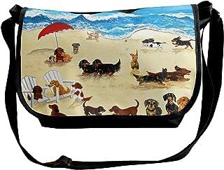 Reginald Nixon 犬 ショルダーバッグ メッセンジャーバッグ 斜めがけ 軽量 カジュアル 旅行パック アウトドアバッグ スポーツ 学生用 通学 通勤