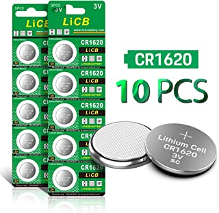 LiCB CR1620 3V Lithium Battery CR 1620 (10-Pack)