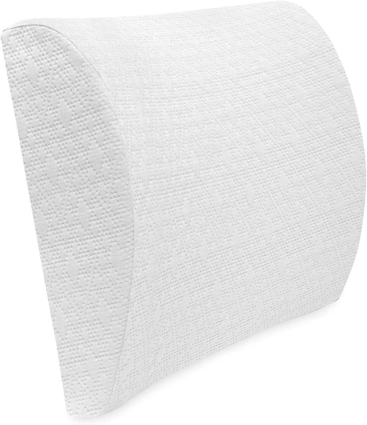 BioPEDIC Gel-Infused Memory Foam White Lumbar Pillow Cheap super special Over item handling price