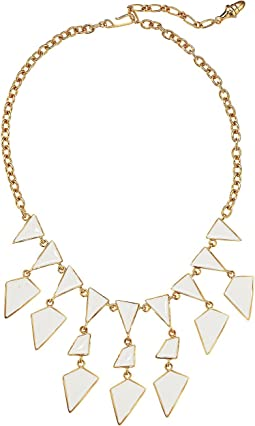 Polished Gold Enamel Geometeric Drops Necklace