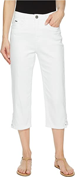 Sunset Hues Suzanne Capris in White