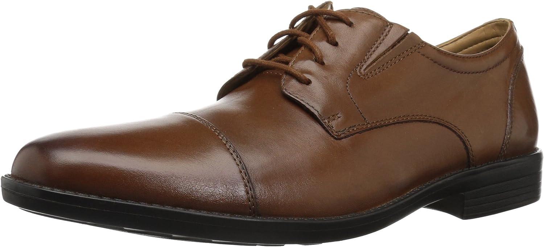 Bostonian Men's Birkett Cap Oxford, Dark tan Leather, 095 M US