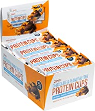 ZenEvo Chocolate Peanut Butter Protein Cups – Low Carb – Low Sugar – High Protein – Gluten Free Meal Replacement, 12 Count Box