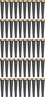 EZtube 50-Pack Joint Blunt Cigarette Tube Doob Vial Holder Waterproof Airtight Smell Proof Odor Sealing Container (Black)