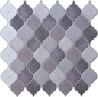 Peel and Stick Tile Backsplash - Arabesque Tile Backsplash,Mosaic Backsplash Sticker,(10 Sheets)