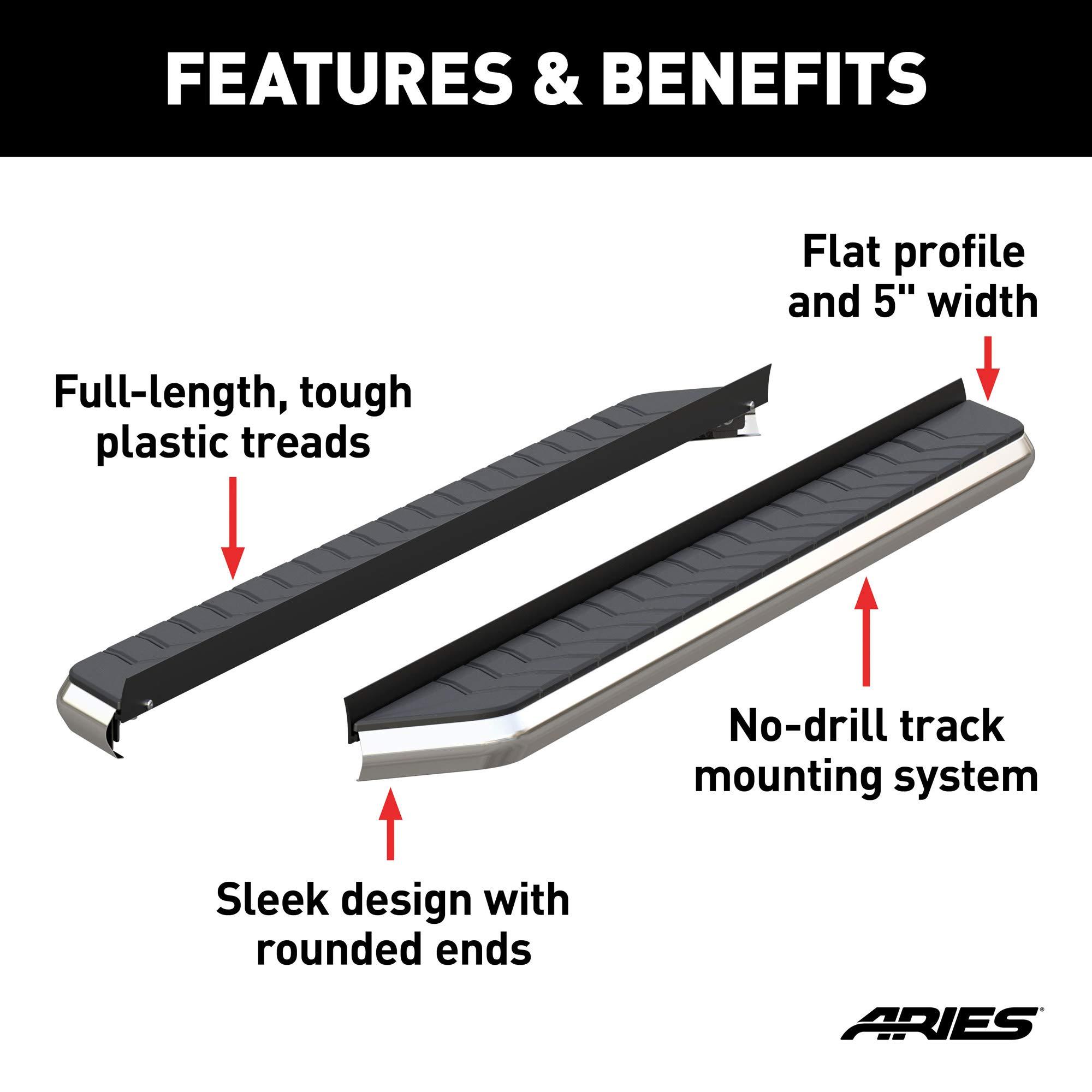ARIES 2051011 5 AeroTread Running Board with Brackets