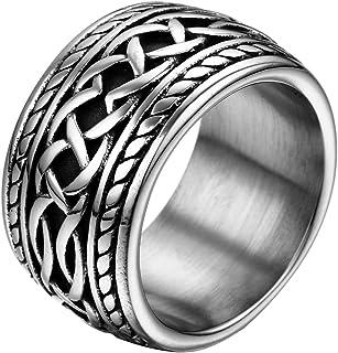 JewelryWe Gioielli Anello da Uomo Donna 14.3mm Acciaio Inossidabile Stile Punk Thumb Anello Band per Fidanzamento e Matrim...