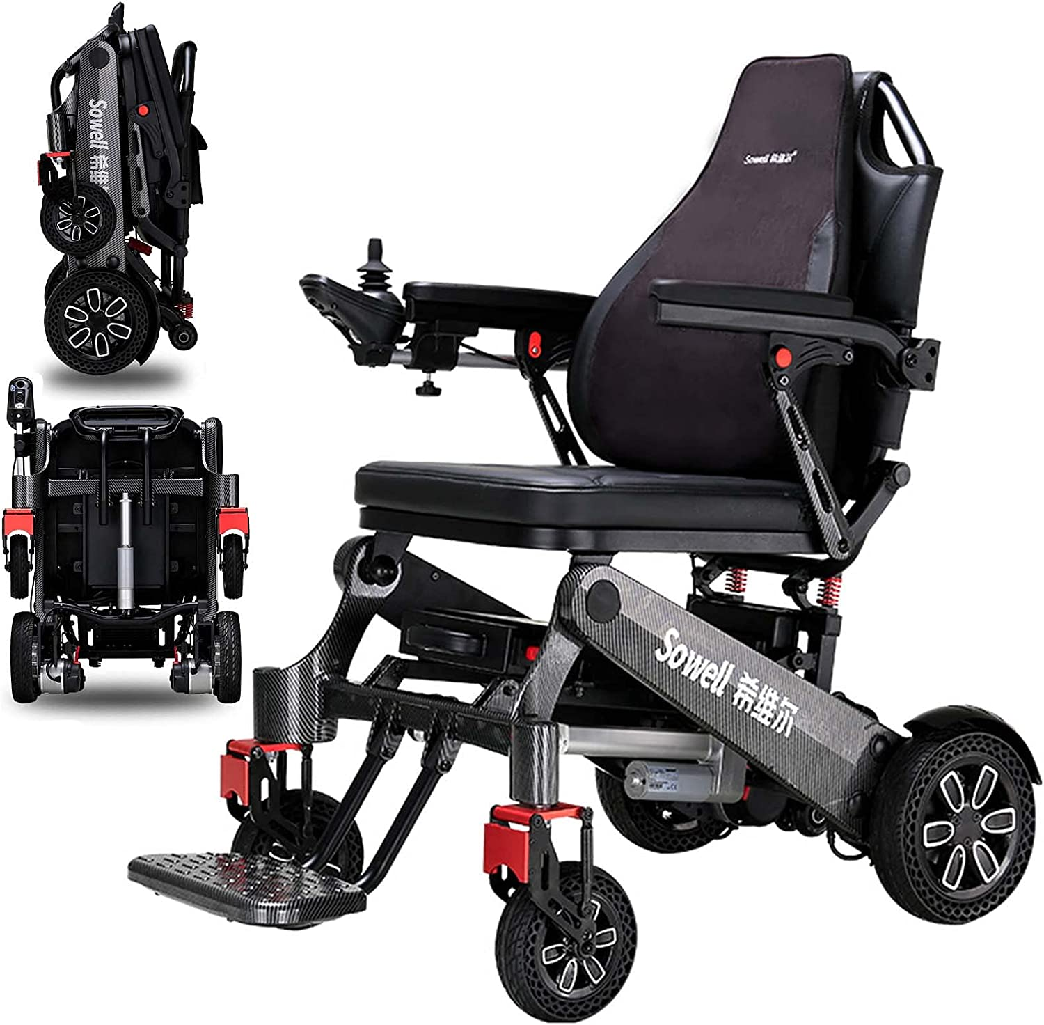 Max 59% OFF Los Angeles Mall PAYRFV Lightweight Electric Power Wheelchair Foldable