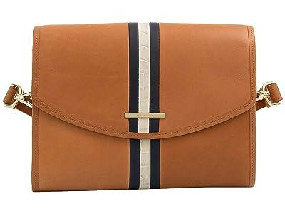 Brahmin Meri Jacquelyn Shoulder Bag (Tan) Handbags
