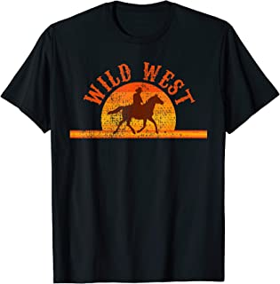 Cowboy Shirt Rodeo Western Wild West Country Horses Tee