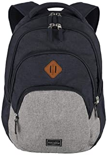 travelite Rucksack Handgepäck mit Laptop Fach 15,6 Zoll, Gepäck Serie BASICS Daypack Melange: Modischer Rucksack in Melang...