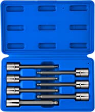 """Neiko 10243A 3/8"""" Drive Extra Long Ball End Hex Bit Socket Set, Metric, 3mm to 10mm 