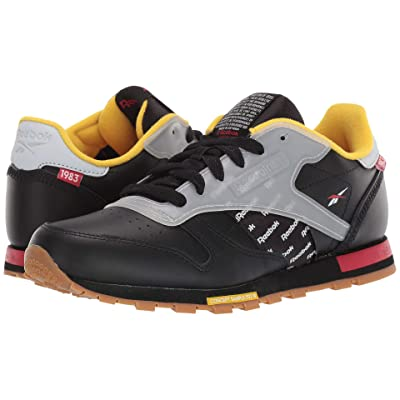 Reebok Kids CL Leather ATI (Big Kid) (Black/Excellent Red/Nucle) Kids Shoes