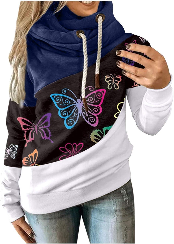 Hotkey Superlatite Women's Las Vegas Mall Fashion Hoodies Long Neck Hooded Cowl Swea Sleeve