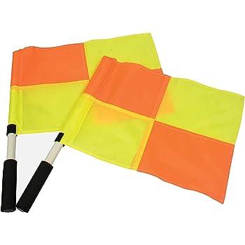 Bandiera a Scacchi Bandiere di Calcio per Arbitro Accessori Confezione da 2