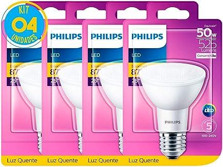 Lâmpada Led Par20 Luz Quente 6.5W Philips (04 Unidades)