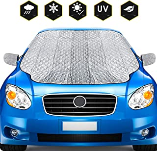 BROTOU Car Windshield Snow Cover Ice Removal Windshield Protector Sun Shades with Cotton Thicker Snow Protection Cover Fits Fits Most Cars and SUV